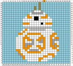 Star Wars Crochet Patterns Lots Of Great Ideas - Star Wars Models - Ideas of Star Wars Models - Star Wars crochet blanket : free charts and explanations ! Crochet Afghans, Crochet Squares Afghan, Crochet Blanket Patterns, Baby Blanket Crochet, Cross Stitch Patterns, Crochet Baby, Pixel Crochet Blanket, Granny Squares, Afghan Patterns