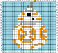 Couverture Star Wars au crochet : les grilles ! [modèle gratuit]   Ahookamigurumi