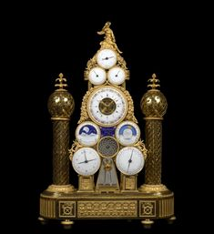 A Republican multi-dial automata clock conceived and made by François -Joseph Hartmann , Paris, dated between 22nd September 1799 and 21st September 1800