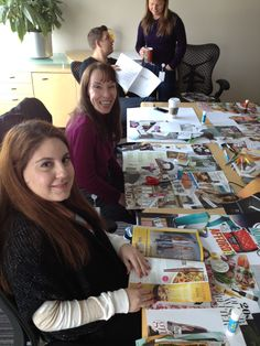 Scouring recycled magazines for our #2013alive vision board workshop. Have you made a vision board before? alive.com