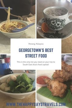 This is the ultimate list of the best foods to eat in Georgetown, Penang. Names, locations and prices included for the Malaysian food capital - Penang! Khao Soi, Best Street Food, Malaysian Food, Good Foods To Eat, Asia Travel, Malaysia Travel, Food Lists, Foodie Travel, Places To Eat