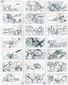 Exclusive storyboard images from 'Firefly: Still Flying' This storyboard also shows lots of movement/arrows in the frames Storyboard Examples, Animation Storyboard, Storyboard Artist, Computer Animation, Technical Illustration, Illustration Art, Balloon Words, Pencil Test, Color Script