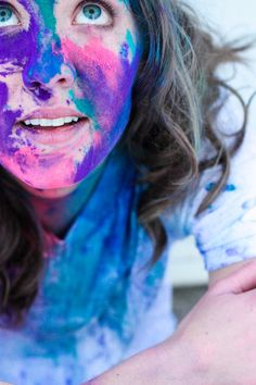 Colorful photo session.