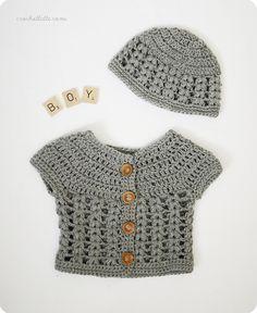 Free crochet pattern. It's A Boy! by crochetlatte, via Flickr