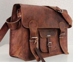 Brown Leather Messenger Bag Leather Satchel by secretcraft01