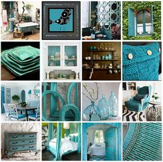 Great accents of teal