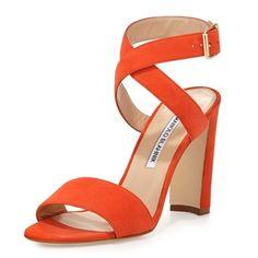Orange is the new black with Manolo Blahnik! http://shoeaholism.com/orange
