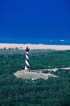 Hatteras lighthouse - Outer Banks NC  My family and I visited the OBX in 2008.  It was magical.  This place will always hold a special place in my heart