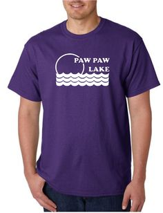 """Unisex Heavy Weight Cotton T-Shirt (Gildan) - Paw Paw Lake Sunset 2 white. Available In-Store & Online. Impress your friends with this awesome Paw Paw Laket-shirt, printed in-store at our Watervliet, Michigan store. (Assembled in USA).Our unique printing process uses special ink and material that is soft, breathable and stretchable for better wash durability. We print and press each shirt order one at a time (no mass production here!), which makes each and every shirt a """"one of a kind"""".We…"""