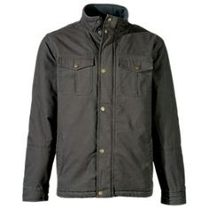 RedHead Sherpa-Lined Canvas Jacket for Men - Orca Grey - XL