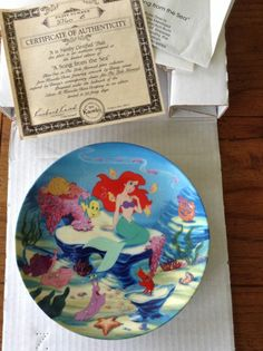Disney's Little Mermaid collector plate, 'A Song from the Sea', COA