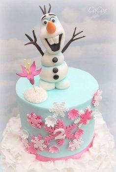 Olaf Birthday Cake, Frozen Themed Birthday Party, Turtle Birthday, Turtle Party, 3rd Birthday, Birthday Parties, Happy Birthday, Disney Frozen Cake, Frozen Frozen