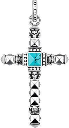 63a9f1293 Thomas Sabo Cross skull sterling silver pendant Small Skull, Skull Jewelry,  Jewelry Box,