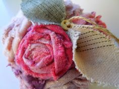 Upcycle Your Life: How To: DIY Upcycled Necktie Fabric Bouquet