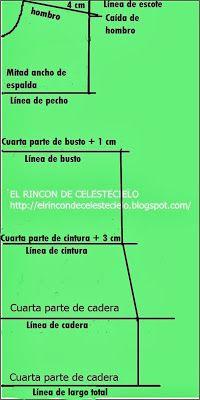 El Rincon De Celestecielo: Patrón básico delantero de blusa a medida o anatómico#.Uf55WJJLOj8 Pattern Drafting, Fashion Sewing, Sewing Patterns, Lily, Chart, Blog, Sewing Lessons, Fashion Patterns, Sewing Patterns Free