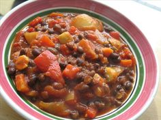 Vegetarian Black Bean Chili. Photo by Redsie