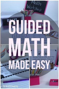 Guided math made easy. Everything you need to make your lesson planning as easy as printing and implementing! Each guided math unit contains the same components. The consistency of the components will allow students, as well as the teacher, to become fa Fourth Grade Math, Second Grade Math, Sixth Grade, Math Rotations, Math Centers, Numeracy, Math Made Easy, Teaching Math, Teaching Ideas