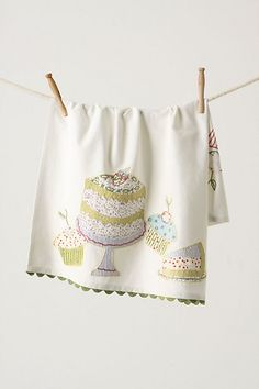 Hey if i can't eat the cake can i at least look at it?! calorie free deliciousness dishtowel ^_^ $18