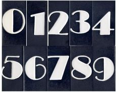 Art Deco House Number Tile
