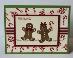 Gingerbread man Card for Children's Class