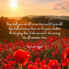 Lest We Forget. ANZAC Day