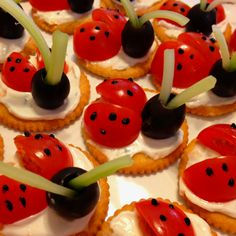 Lady bug crackers made for friend's shower