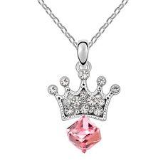 Shine like a diamond! Swarovski Crystal Necklace, Rhinestone Necklace, Crystal Pendant, Swarovski Crystals, Blue Necklace, Bridal Necklace, Pendant Necklace, Jewellery Uk, Fashion Jewelry Necklaces