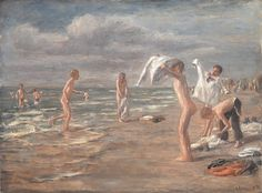 Max Liebermann - Boys bathing (1898)