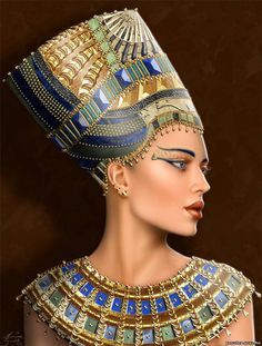 Cleopatra ( art by Maxine Gadd ) Egyptian Fashion, Egyptian Beauty, Egyptian Women, Ancient Egyptian Art, Ancient Egypt Fashion, Egyptian Things, Egyptian Pharaohs, Ancient Aliens, Ancient History