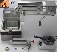 397.00$  Watch now - http://aliqf8.worldwells.pw/go.php?t=32710694555 - 4 in 1 5L Manual Spainish Churro Maker+ Deep Fryer + Churros Filler + Chocolate Melter 397.00$