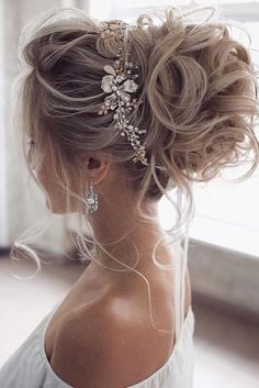 36 Hottest Bridesmaids Hairstyles Ideas ❤️ hottest bridesmaids hairstyles id. 36 Hottest Bridesmaids Hairstyles Ideas ❤️ hottest bridesmaids hairstyles ideas elegant curly high updo with glamorous accessorie tonyastylist Source Wedding Hair And Makeup, Hair Makeup, Wedding Hair Updo, High Updo Wedding, Bridal Hair Updo High, Prom Updo, Hair Messy Updo, Bridal Hair Mid Length, Wedding Nails