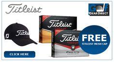 Free Cap worth £14.99 with 2 dozen or moreTitleist Pro V1 & Pro V1X golf balls