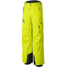 If you're more of a backcountry explorer than a dedicated downhill bomber, you'll appreciate snow pants that provide protection while offering plenty of breathable comfort. The Mountain Hardware Men's Returnia Cargo Pant is made with waterproof and wind-resistant Dry Q Core fabric that breathes as well as it protects for excellent active comfort. Zippered inner-thigh vents can be opened for additional air flow if you're working up a decent heat. The pant's fit is not too slim or too roomy so…