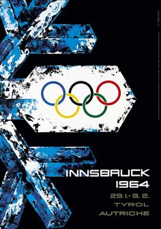 Discover Vintage Ski World's 1964 Innsbruck Winter Olympics Vintage Ski Poster and many other kinds of vintage posters. Innsbruck, 1964 Olympics, Summer Olympics, Winter Olympic Games, Winter Games, Calgary Canada, History Of Olympics, Olympic Logo, Vintage Ski Posters