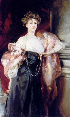 Lady Helen Vincent by John Singer Sargent, 1904. Helen Vincent, Viscountess d'Abernon, was celebrated English beauty and socialite. During World War I, Helen worked as a nurse despite her elevated station. Sargent painted her while she was staying in Venice.