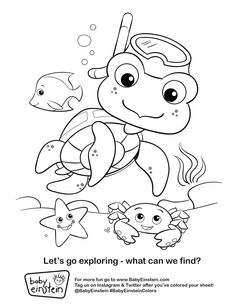 BabyEinstein See More Keep Your Little One Having Fun This Summer With Our Coloring Sheets Print It