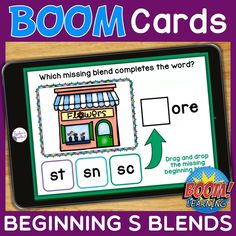 THIS IS AN INTERACTIVE DIGITAL RESOURCE. Download the preview to play a shortened version of the Boom Deck – this will help you decide if the resource is suitable for your students. ABOUT THIS BOOM DECK: Help your students practice S blends with this set of digital task cards. Students will look at the picture clue, then choose the correct blend to complete the word. Students will drag and drop the correct blend, from a choice of 3, into the blank box.