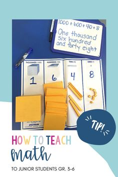 How to teach Math to junior students, grade 3-6. Inquiry Based Learning, Teaching Math, Number Sense, Numeracy, Grade 3, Problem Solving, Students, Teacher, Classroom