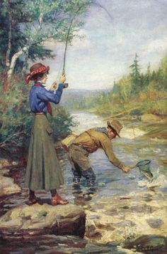 Seeking superior fine art prints of Lucky Catch by Philip Goodwin? Customize the size, media & framing for your style. Best Fishing, Fly Fishing, Saltwater Fishing, Women Fishing, Crappie Fishing, Fishing Games, Fishing Tips, Fishing Pliers, Fishing Quotes