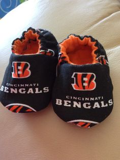 Cincinatti Bengals inspired Baby Booties