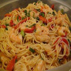 Deliciosa receita de espaguete ao molho de camarão