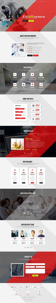 Naptum is a #OnePage Parallax #PSD #template suitable for online portfolio, freelancers, graphic designers, programmers and creative agencies websites download now➩ https://themeforest.net/item/naptum-one-page-parallax-psd-template/19318574?ref=Datasata