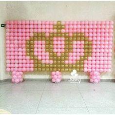 Photo back drop Baloon Wall, Balloon Frame, Balloon Backdrop, Balloon Columns, Balloon Decorations, Ballon Arch, Balloons Galore, Princess Theme Party, Pink Themes