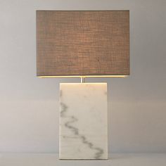 Contrast cool marble with warm light in this Artemis Marble Block Table Lamp. Join me on the blog at YasminChopin.com where we bring more light to the subject of #interiors