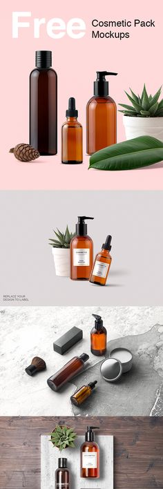 Free Cosmetic Packaging And Branding Mockups by Mockup Zone.