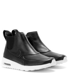 Nike Air Max Thea Mid black leather sneakers Shoes With Shorts, Sneakers  Nike, Adidas 8f0a69031a7b