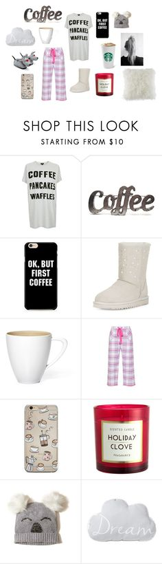 """""""Not a morning person"""" by ruby-2024641 ❤ liked on Polyvore featuring Topshop, Rustic Arrow, UGG, Cyberjammies, Hollister Co. and BCBGeneration"""