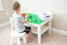 How to Make a LEGO Table - Grace, Giggles & Naptime
