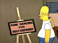 punk dancing for self-defense