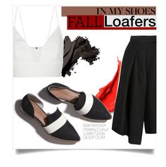 """Fall Loafers"" by tellmeverything ❤ liked on Polyvore featuring Matt Bernson, Bobbi Brown Cosmetics, TIBI and Narciso Rodriguez"